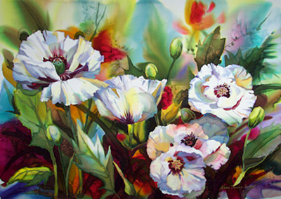 """Nancy Dunlop Handsigned and Numbered Giclee :""""Poppies of Le Gannet"""""""