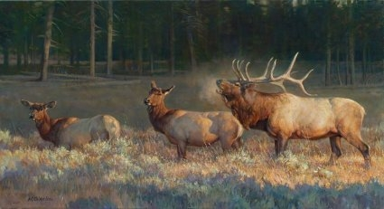 """Nancy Glazier Handsigned and numbered Limited Edition Giclee: """"Wake Up Call"""""""