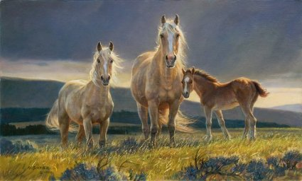 """Nancy Glazier Handsigned and Numbered Limited Edition Print: """"Golden Glory (Palomino)"""""""