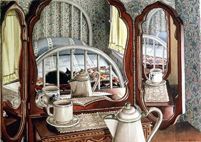 """Nancy Hagin Limited Edition Serigraph on Paper: """" Guest Room """""""