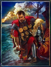 """Nathan Greene Limited Edition Canvas Giclee: """"The Roman Centurion"""""""