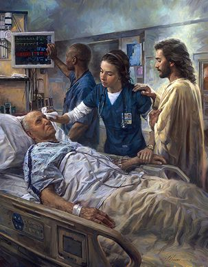 "Nathan Greene Limited Edition Giclee Print:""The Healer - Nurses"""