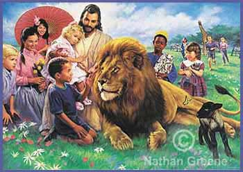 """Nathan Greene Limited Edition Lithograph:""""The Lion and The Lamb"""""""