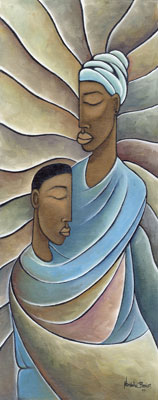"""Nathaniel Barnes Limited Edition Signed Giclee:""""Mother and Child"""""""