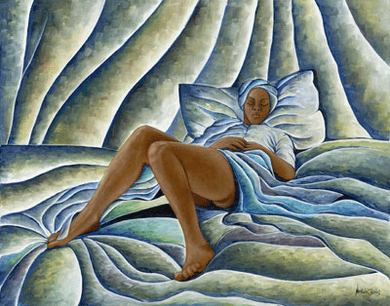 """Nathaniel Barnes Limited Edition Signed Giclee:""""Dreaming Woman"""""""