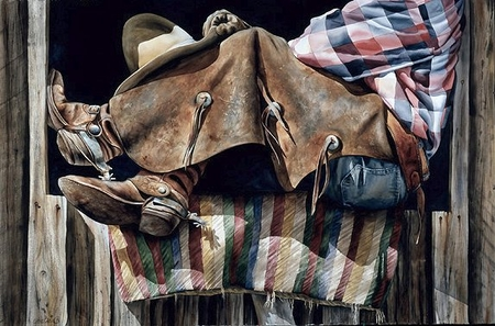 "Nelson Boren Handsigned and Numbered Limited Edition Giclee on Paper:""Horse Blanket"""