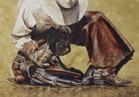 """Nelson Boren Handsigned and Numbered Limited Edition Giclee on Paper:""""Leather Straps"""""""