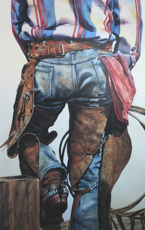 """Nelson Boren Handsigned and Numbered Limited Edition Lithograph on Paper:""""Standing Easy"""""""