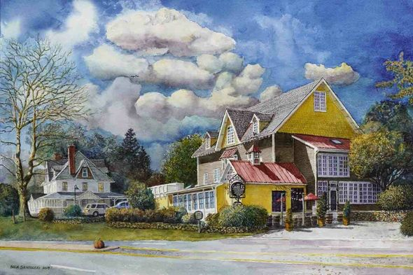 """Nicholas P. Santoleri Artist Signed Limited Edition Print:""""The Gables at Chadds Ford"""""""