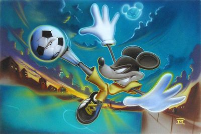 """Noah Hand Hand Signed and Numbered Canvas Giclee:""""Kickin' It"""""""