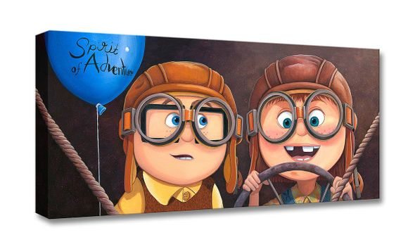 """Michelle St.Laurent Artist Signed Limited Edition Gallery Wrap Canvas Giclee:"""" Adventure Awaits - UP"""""""