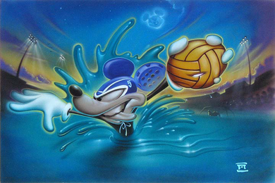 "Noah Hand Hand Signed and Numbered Canvas Giclee:""Water Mouse"""