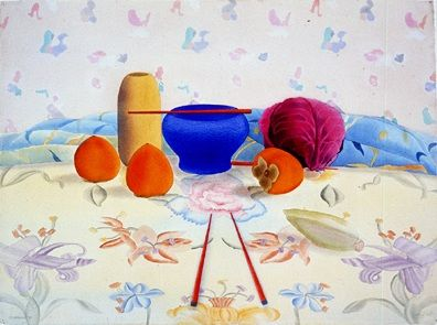 """Osborne Handsigned and Numbered Limited Edition :Serigraph on Paper:""""Japanese Still Life"""""""