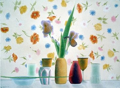 """Osborne Handsigned and Numbered Limited Edition :Serigraph on Paper:""""Still Life with Floating Flowers"""""""