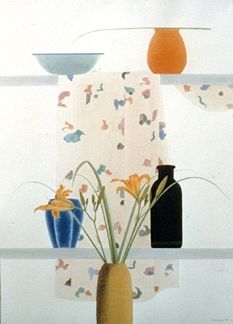 """Osborne Handsigned and Numbered Limited Edition :Serigraph on Paper:""""Summer Lilies"""""""