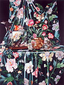 "P.S. Gordon Limited Edition Serigraph on Paper: "" Flora, Flora, Where's the Fauna? (Starling Under Glass) """