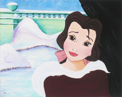"Paige O'Hara Signed and Numbered Giclée on Canvas: ""Belle's in Love"""