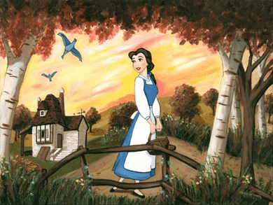 """Paige O'Hara Signed and Numbered Giclée on Canvas: """"Little Town"""""""