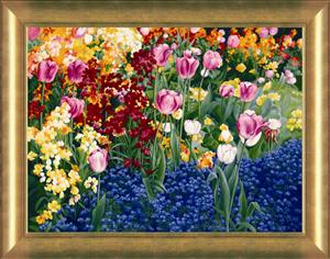 "Patrice Procopio Canvas Limited Edition Canvas:""English Tulips"""