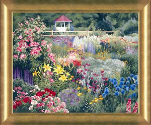 "Patrice Procopio Giclee Canvas Edition Giclée:""Door County Garden Gazebo"""