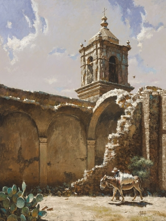 """George Hallmark Hand Signed and Numbered Limited Edition Giclee on Paper and  Canvas :""""Ruins of San Jose, 1875"""""""