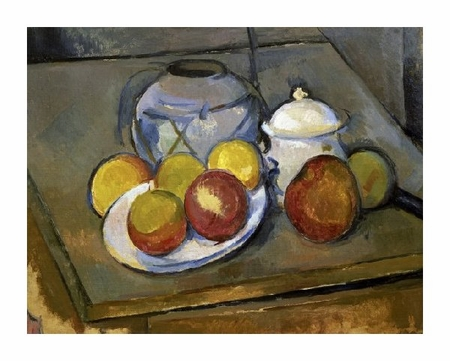 "Paul Cezanne Fine Art Open Edition Giclée:""Flawed Vase, Sugar Bowl and Apples"""