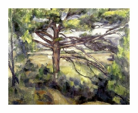 """Paul Cezanne Fine Art Open Edition Giclée:""""Great Pine and Red Earth"""""""
