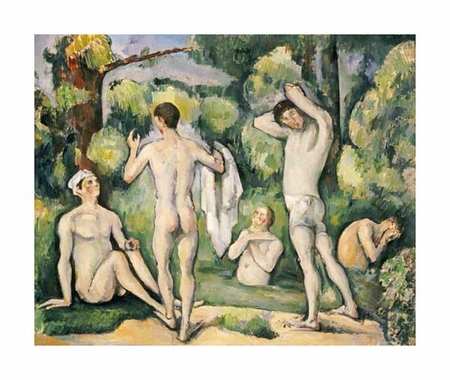 "Paul Cezanne Fine Art Open Edition Giclée:""The Five Bathers"""