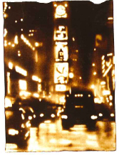"Paul Chojnowski Signed and Numbered Limited Edition Suite on Giclée with woodblock on Hawk Mountain Peregrine Paper: ""Times Square"""