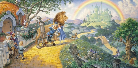 """Scott Gustafson Hand Signed and Numbered Limited Edition Print:""""The Wizzard of Oz"""""""