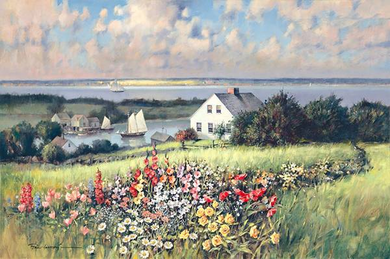"Paul Landry Fine Art Anniversary Edition Giclée Canvas:""Summer Hill"""