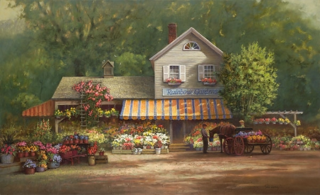 """Paul Landry Handsigned & Numbered Limited Edition:""""Rainbow Gardens """""""