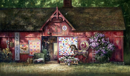 "Paul Landry Limited Edition Print:""Antique Barn"""
