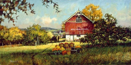 """Paul Landry Limited Edition Print: """"Apple Valley Orchard"""""""