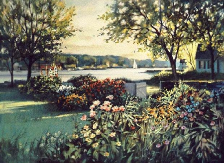 "Paul Landry Limited Edition Print:""Harbor Garden"""