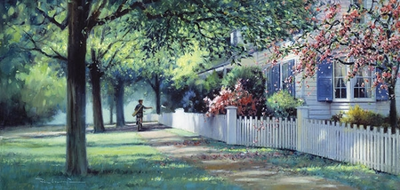 """Paul Landry Limited Edition Print:""""The PaperBoy"""""""