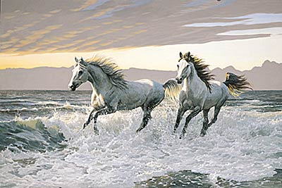 """Persis C. Weirs Limited Edition Print:""""Wild Hearts-Horses"""""""