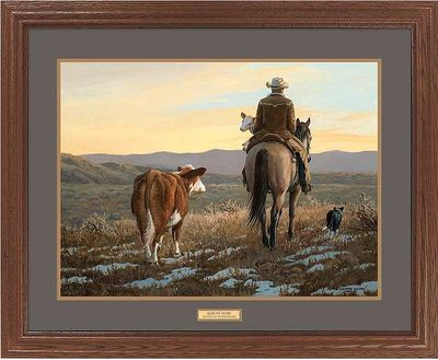 """Persis Clayton Weirs Open Edition Framed Print: """"Almost Home-Cowboy"""""""