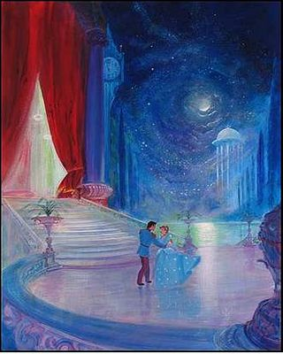 """Peter Ellenshaw Handsigned and Numbered Limited Edition Embellished Giclee on Canvas: """"So this is Love"""""""