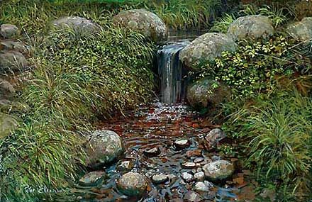 "Peter Ellenshaw Handsigned and Numbered Limited Edition Giclee on Canvas :""Rivulet"""