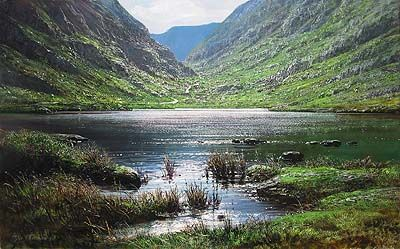 """Peter Ellenshaw Handsigned & Numbered Limited Edition Giclee on Canvas:""""Dunloe Gap"""""""