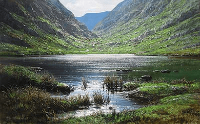 "Peter Ellenshaw Handsigned & Numbered Limited Edition Giclee on Canvas:""Dunloe Gap"""