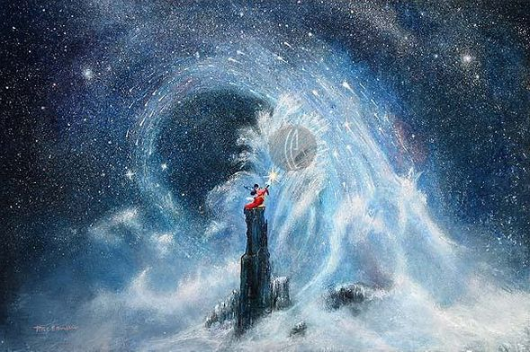 """Peter Ellenshaw Limited Edition Giclee on Canvas :""""Mickey's Dream """""""
