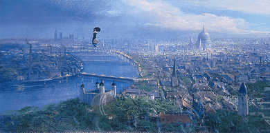 """Peter Ellenshaw Limited Edition Giclee on Canvas :""""Practically Perfect"""""""
