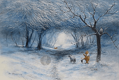 """Peter Ellenshaw Limited Edition Giclee on Canvas :"""" Winter Walk"""""""