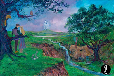 "Peter & Harrison Ellenshaw Handsigned and Numbered Limited Edition Embellished Giclee on Canvas: ""Once Upon a Dream"""