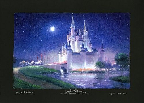"Peter & Harrison Ellenshaw Signed and Numbered H/E Ciarograph on Paper: ""Cinderella's Grand Arrival (Deluxe)"""
