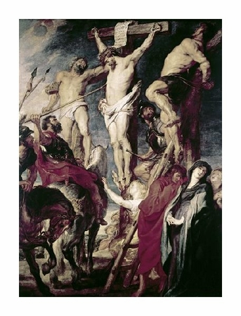 """Peter Paul Rubens Fine Art Open Edition Giclée:""""Christ on the Cross Between the Two Thieves"""""""