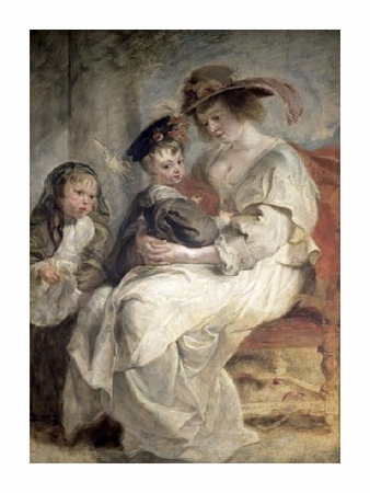 "Peter Paul Rubens Fine Art Open Edition Giclée:""Helena Fourment and Her Children, Claire-Jeanne and Francois"""
