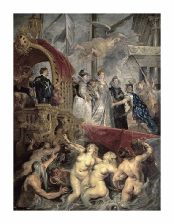 "Peter Paul Rubens Fine Art Open Edition Giclée:""Landing at Marseilles (Life of Marie de Medici, Queen of France)"""